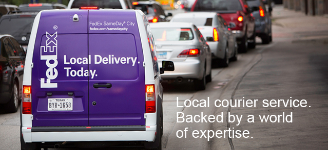 Local courier service. Backed by a world of expertise.